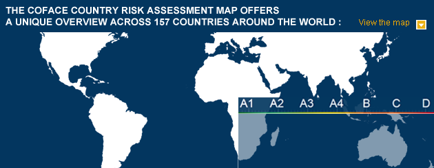 View the Country Risk Map of Coface